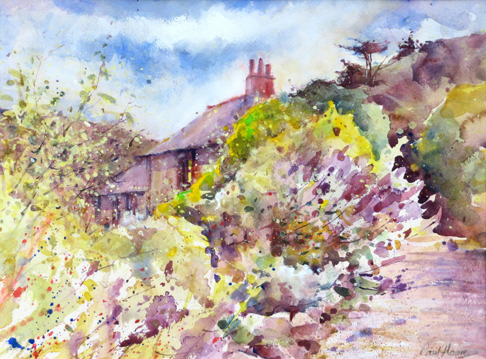 To the Old Harbour Masters Cottage painting by Paul Hoare