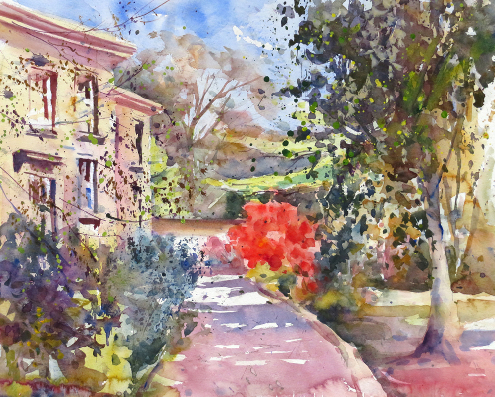 Trewithen, The Manor House painting by Paul Hoare