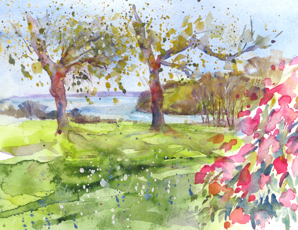 Trelissick, over looking the river painting by Paul Hoare