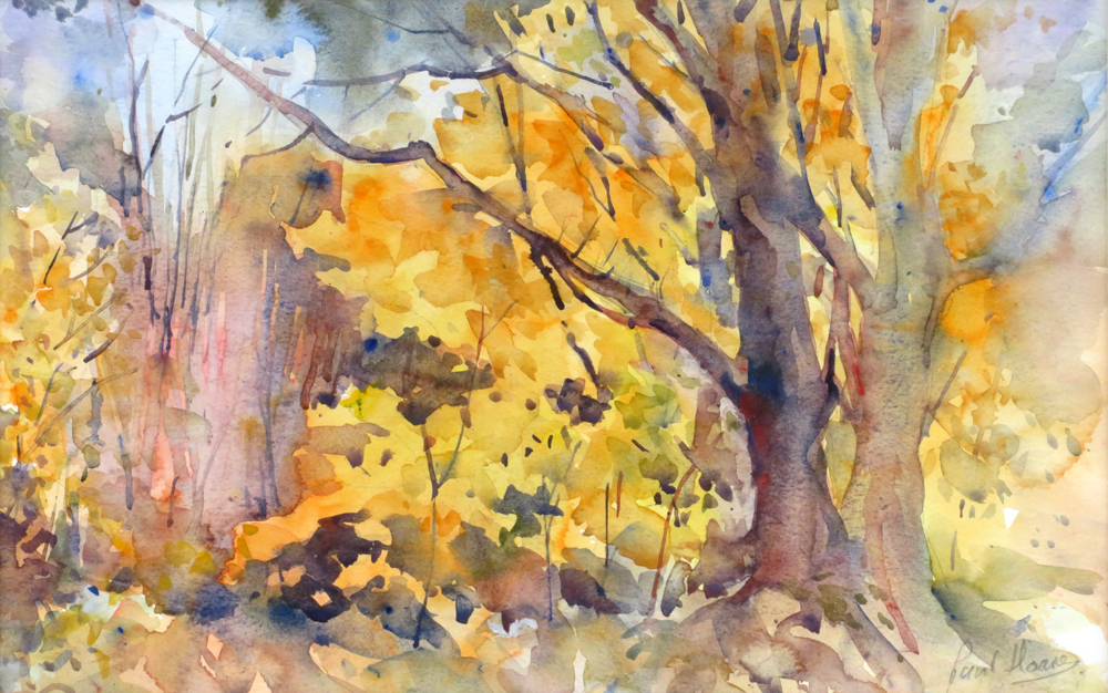 Golden Tree painting by Paul Hoare