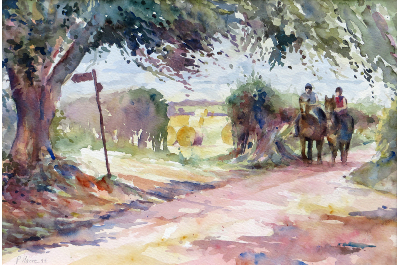 Riders at the Crossroads painting by Paul Hoare