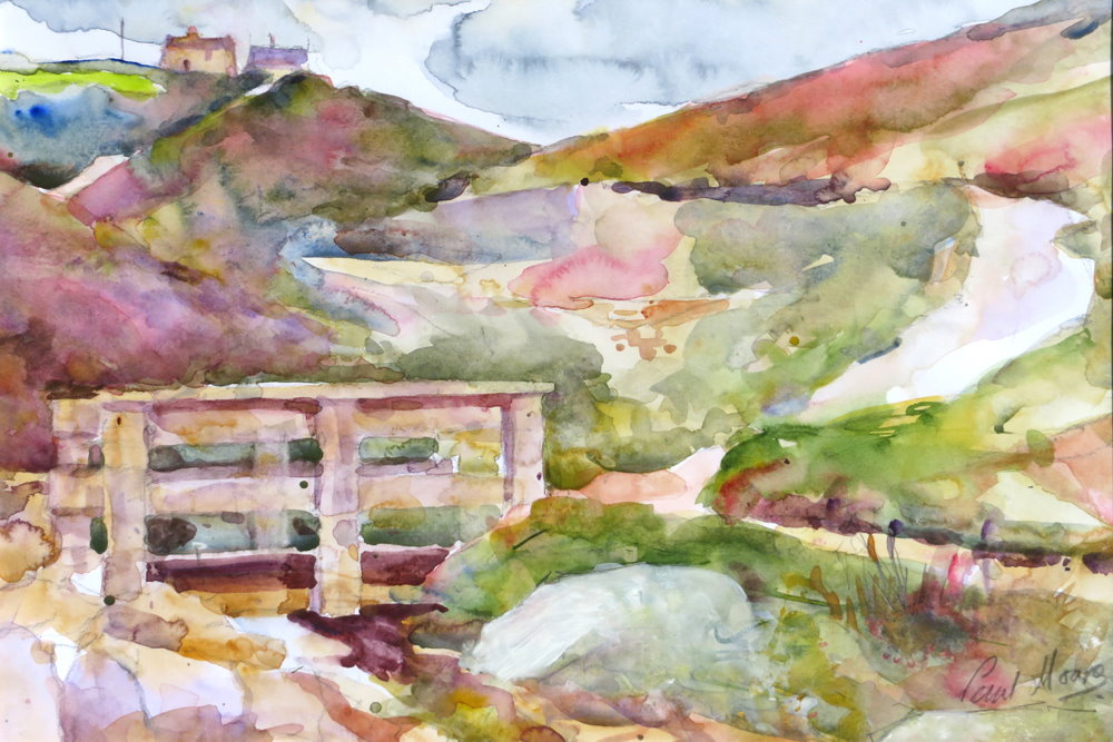 Chapel Porth painting by Paul Hoare