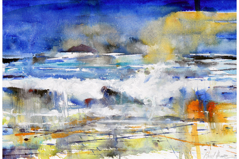 Breaking Wave, Trevaunance Cove from a painting by Paul Hoar