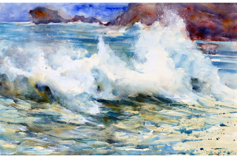 Breaking Wave from a painting by Paul Hoare