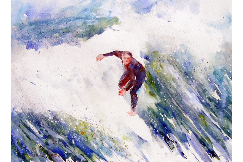 Riding the Wave from a painting by Paul Hoare
