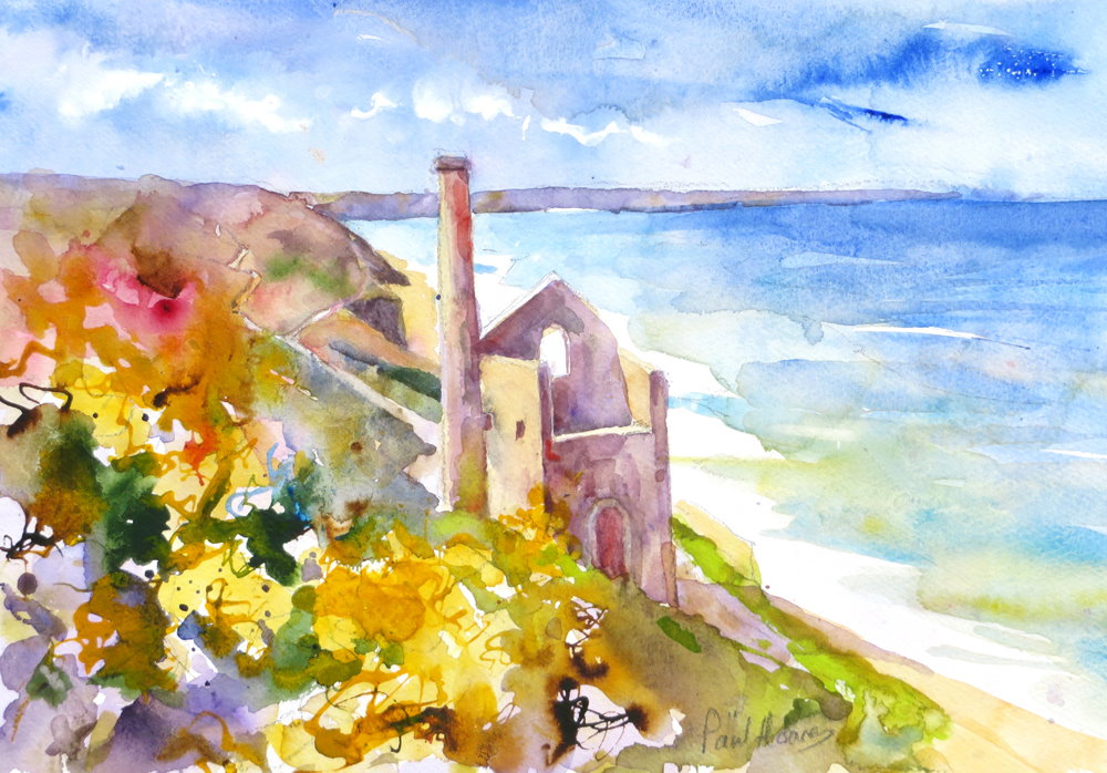 Wheal Coates engine house painting by Paul Hoare