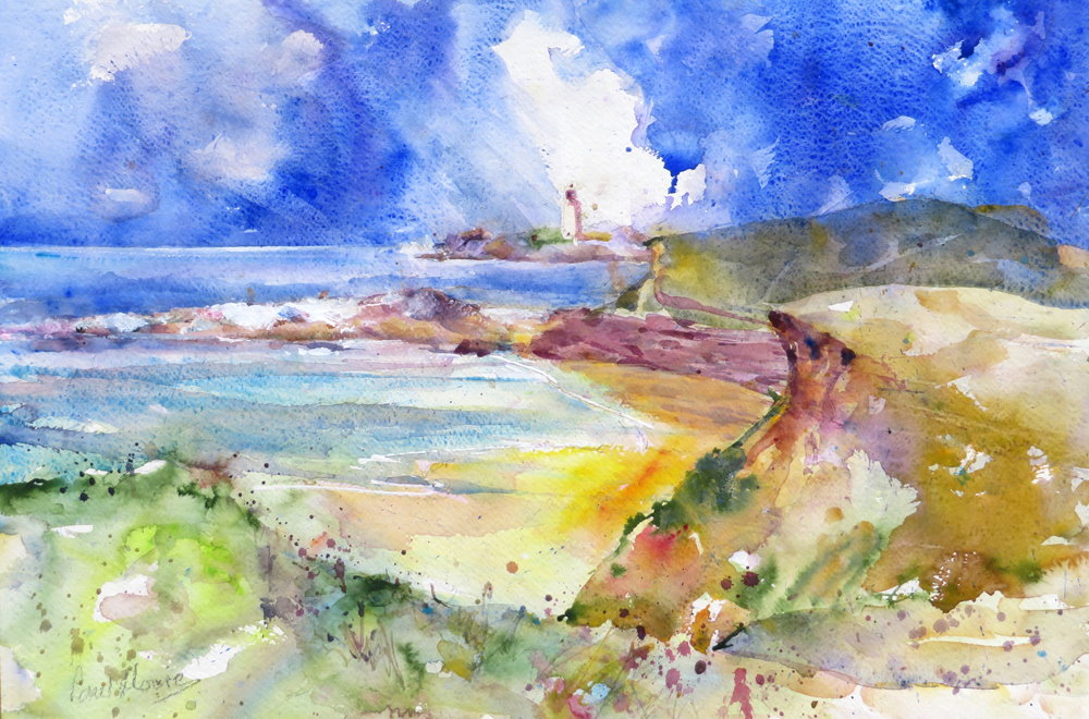 Godrevy Lighthouse painting by Paul Hoare