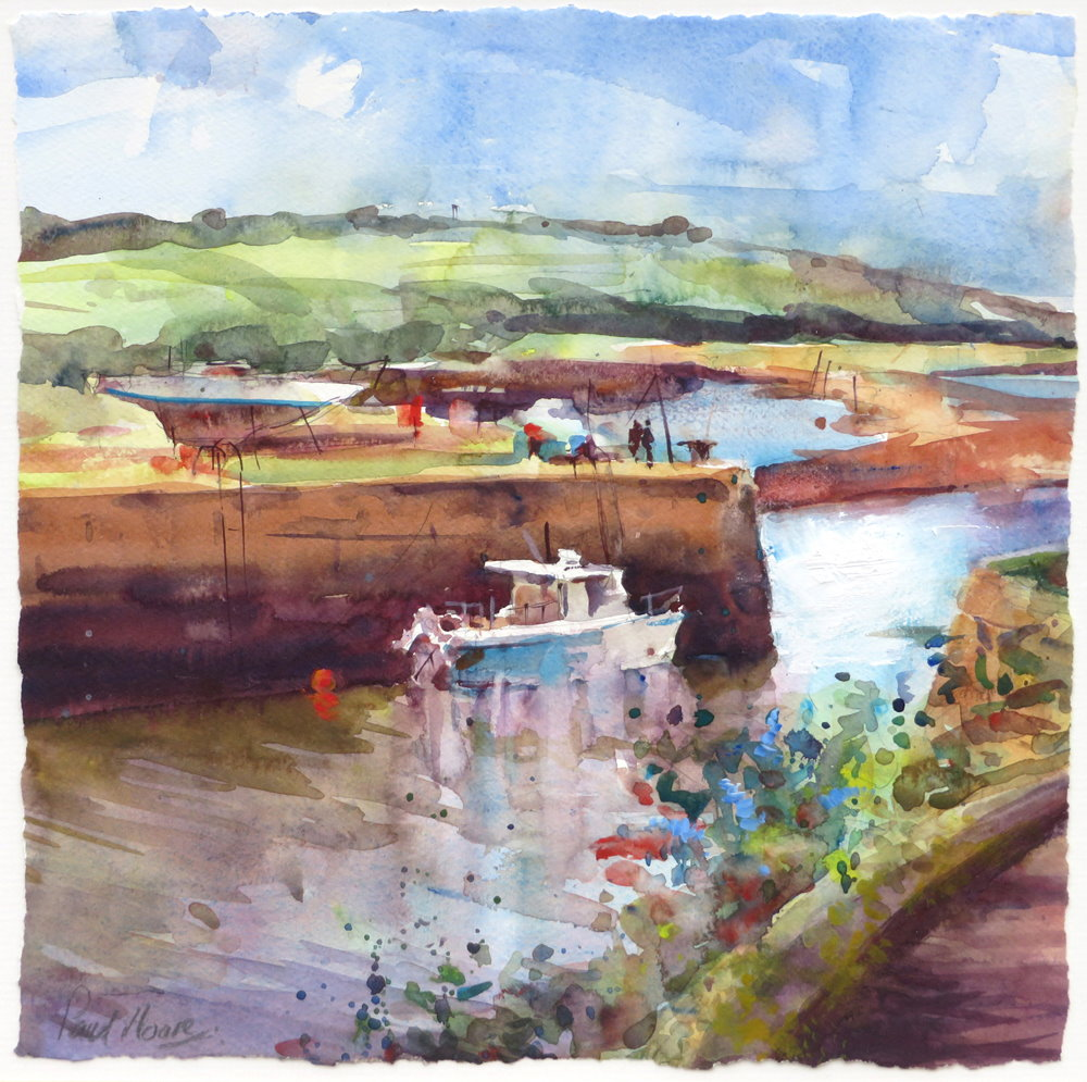 hayle harbour painting by paul hoare