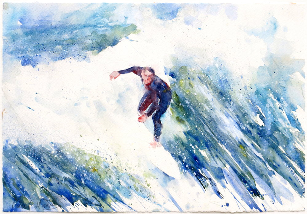 Riding the Wave painting by paul hoare