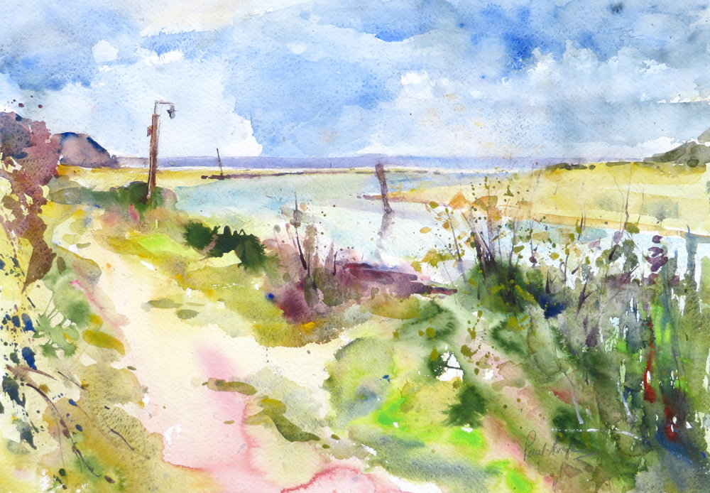 Porthkidney Beach painting by Paul Hoare