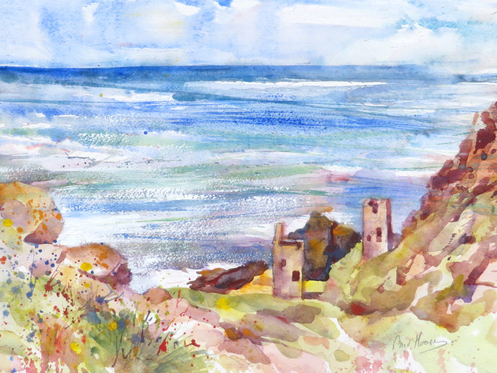 Botallack Mines painting by Paul Hoare
