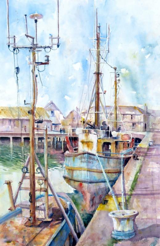 The 'Excellence' Penzance painting by paul hoare