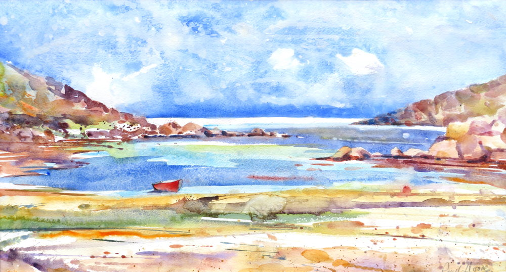 Fraggle Rock, Bryher painting by Paul Hoare