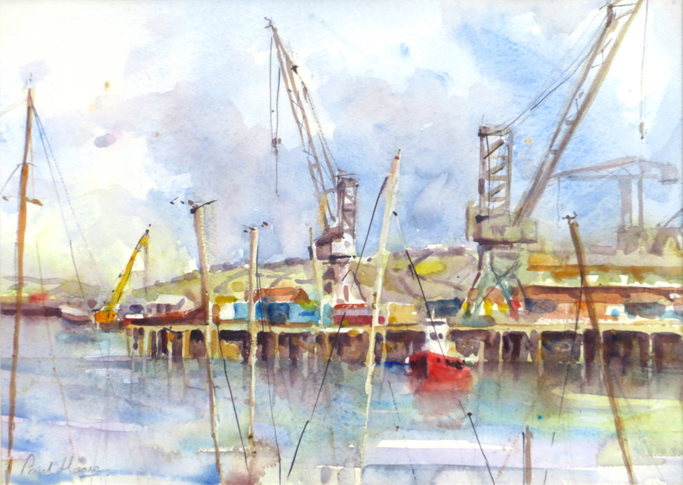 Falmouth Docks painting by Paul Hoare