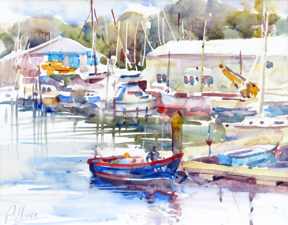 Penryn Harbour painting by Paul Hoare