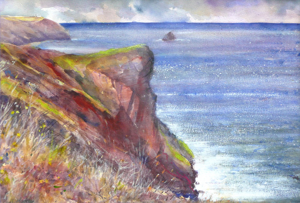 Cligga painting by paul hoare
