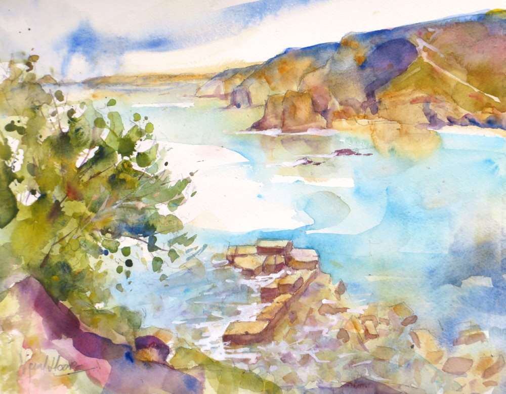 Remains of the Old Harbour, Trevaunance Cove by Paul Hoare