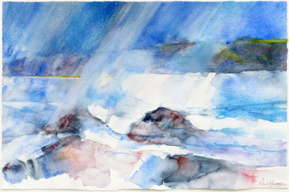 Rocky weather painting by paul hoare